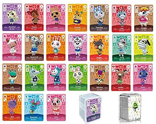 24 Mini NFC Karten für Amiibo Animal Crossing New Horizon kompatibel Nintendo Switch Lite Wii U New 3DS Seltene Villageois Serie 1 bis 4 mit Aufbewahrungstasche