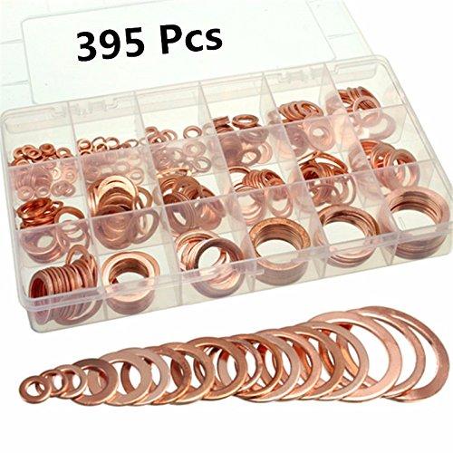 EsportsMJJ 395Pc Koper Flat Ring Washer Pakkingen Montage 18 Metrisch Sz Elektrische Automotive