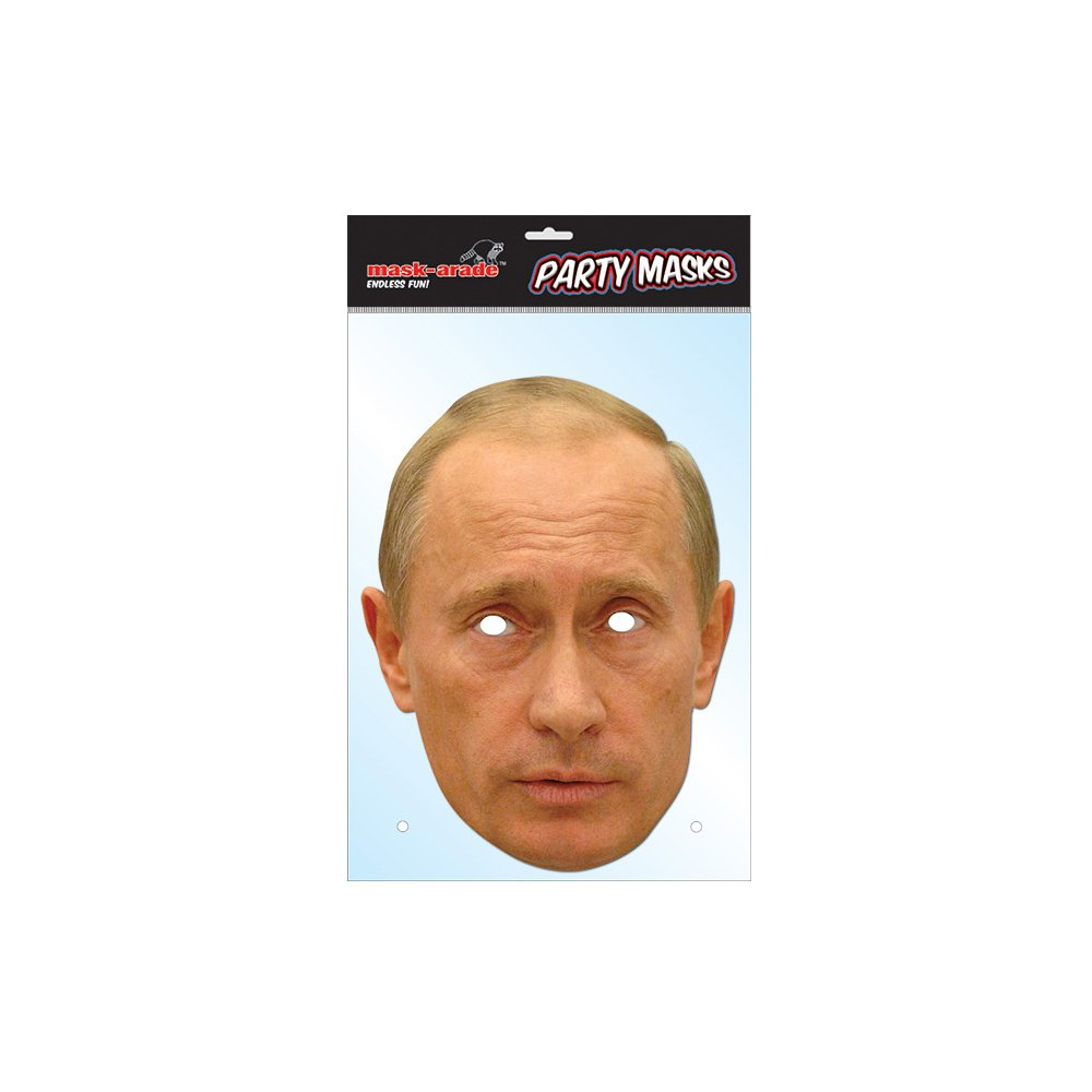 Amazon Com Vladimir Putin Celebrity Paper Mask Mask Arade Toys Games