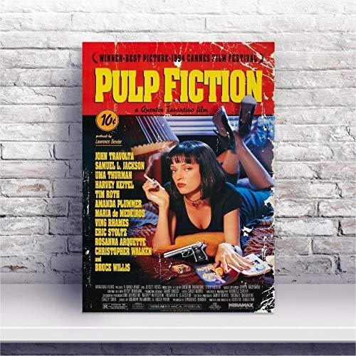 Placa MDF Pulp Fiction: Tempo de Violência Filme