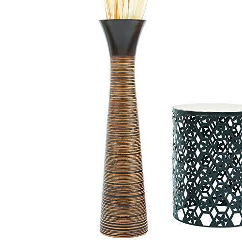 Leewadee Grande Vaso da Terra per Rami Decorativi Vaso Alto da Interno 90 cm, Legno di Mango, Marrone