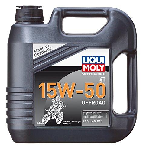 LIQUI MOLY 3058 Motorbike Öl 4T 15W-50 Offroad, 4 L