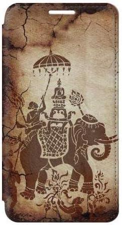 W2102 Thai Art Buddha on Elephant Flip Case Cover For Samsung Galaxy S5 product image