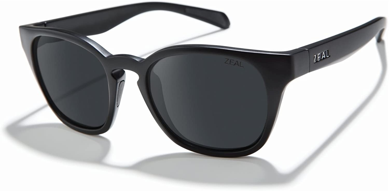 Zeal Optics Unisex Windsor Matte Black Polarized Dark Grey Lens One Size