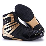 HO BEAR Professional Men's Wrestling Boxing Shoes Ankle Guard Squat Shoes Breathable Non-Slip Fighting Boxing Shoes Training Competition High-top Sports Shoes