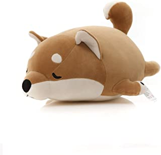Niuniu Daddy 16 Inch Shiba Inu Plush Cute Stuffed Animal Corgi Plush Hugging Pillow Home Office Throw Pillow Gifts Sofa Chair