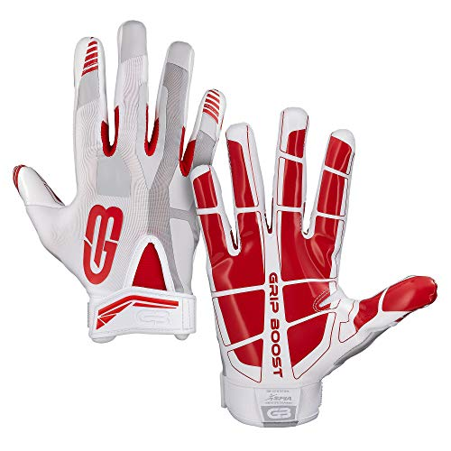 Grip Boost Stealth Football Gloves Pro Elite (red, Youth Large)