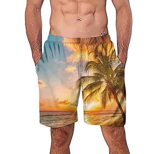 FRAUIT Heren 3D Graffiti-bedrukte strandshorts werk casual mannen korte broek ademend gedrukt zwembroek zwembroek zwembroek vrijetijdsbroek joggingbroek sportbroek trainingsbroek jogger sweatpants