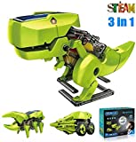 ASPPOPO STEM Projects for Kids Ages 8-12 Powerd by Solar 3 in 1 DIY Building Dinosaurs Toy Kids...
