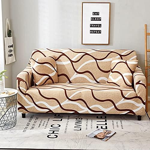 WXQY Elastischer Elasthan-Sofabezug fest gewickelt All-Inclusive-Sofabezug modularer Sofabezug Möbelschutzbezug A6 2-Sitzer
