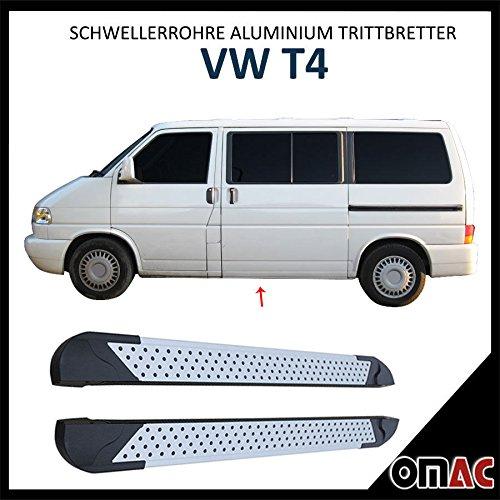Schwellerrohre Alu Trittbretter für T4 Kurzer Radstand Almond (213)