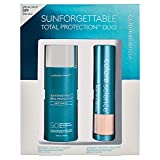 Colorescience Sunforgettable Total Protection Mineral Sunscreen Duo Kit, Face Shield SPF 50 & Brush-On Sunscreen SPF 50 in Medium Shade