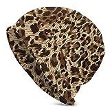 QIUYELONG Jaguar Leopard and Ocelot Skin Texture Print Slouchy Beanie Skull Cap Knit Hat