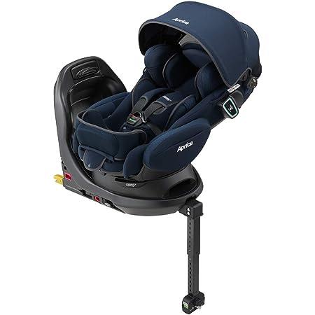Aprica(アップリカ) ISOFIX固定 新生児から使える回転式ベッド型チャイルドシート フラディア グロウ ISOFIX 360°セーフティー AB ネイビーヴォアチュール NV 0か月~ (保証付き) 2107709