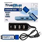 OVERWELL 128GB True Blue Mini Overdose Pack para Playstation Classic con 203 Juegos