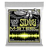 Cordes pour guitare électrique Ernie Ball Regular Slinky M-Steel - Jauge 10-46