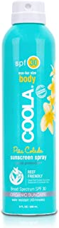 COOLA Organic Sunscreen Body Spray with SPF 30, 8 Fl Oz