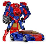 JINGZHUN Jouets de déformation, Déformation de déformation de Jouets Grand Robot déformation modèle Jouet Cadeau Cadeau Cadeau Jouet Spiderman