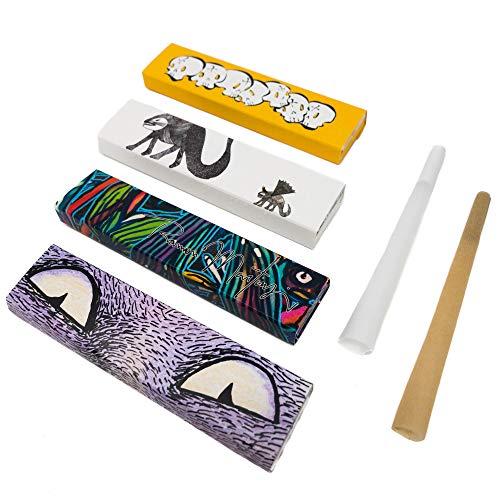 Artist Papes Nekomata Papel de Fumar - 4x 33 Rolling Papers King Size Slim para Conocimientos y Aficionados - Caja Largo de Edición Limitada de Papel de Liar