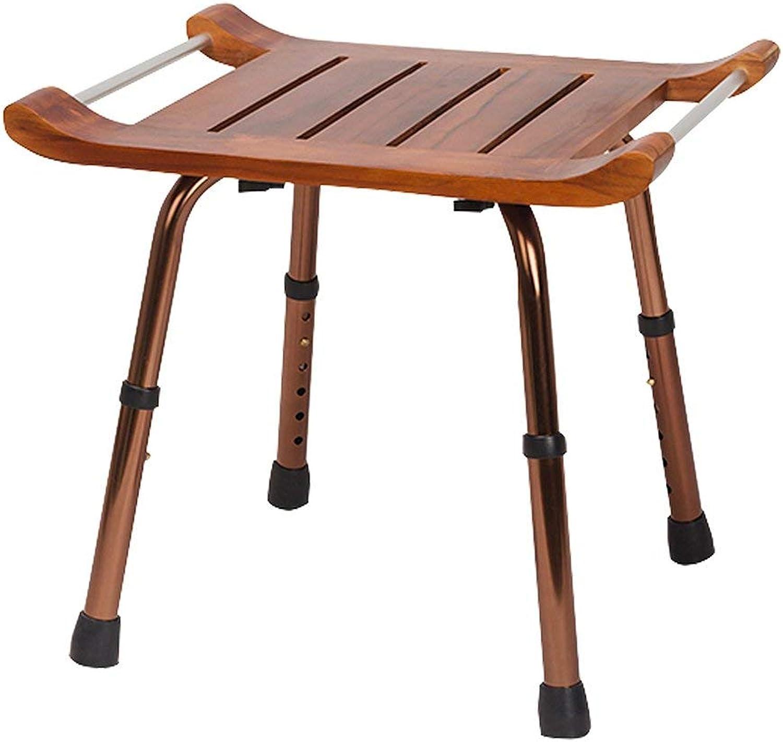 Tellgoy-Chair Duschbad Sitz 6 Hhenverstellbar, Duschbadewanne Hocker Holzmaterial Und Hocker Knnen 150 Kg Tragen, Für ltere Behinderte Schwangere,braun