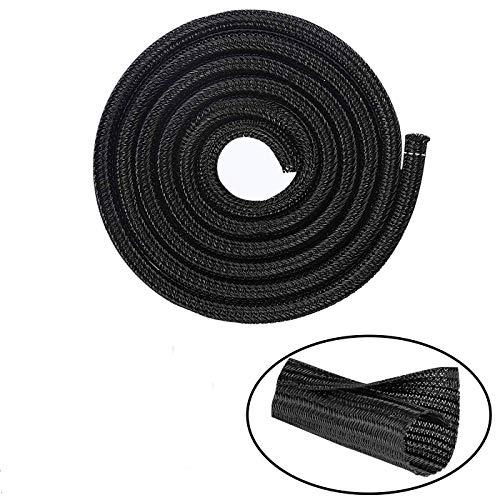 HUAZIZ Organizador Cables, 3m Recoge Cable Cubre Cables Expandible, Protector de Gestión...