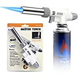 NANW Butane Torch Kitchen Blow Lighter, Culinary Cooking Torch Professional Adjustable Flame with Reverse Use for Creme Brulee, Baking , BBQ, Jewelry, Welding (Butane Gas Not Included)
