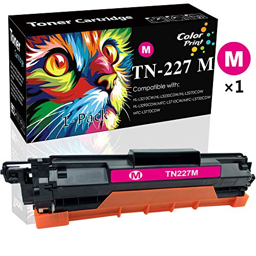 (1-Pack, Magenta) Compatible TN227 TN-227 Toner Cartridge Used for Brother TN223 TN-223 use with MFC-L3770CDW MFC-L3750CDW HL-L3230CDW HL-L3290CDW HL-L3210CW MFC-L3710CW Printe, by ColorPrint -  CP-BR-TN227-LINE-1, CPBR-TN227-1M