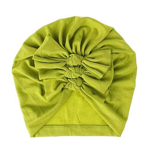 Doyime noeuds indiens adaptés aux enfants de 0 à 3 ans accessoires de mode pour costumes chapeaux pour bébés bonnets Chapeaux pour enfants Green