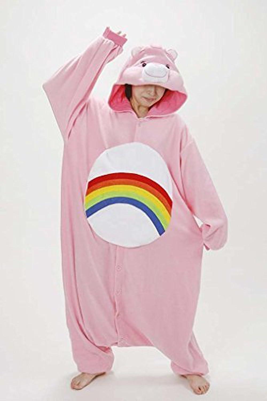 Regenbogen-Br Tier Cosplay Kostüme Tierkostüme Erwachsene Pyjamas Kostüm Pyjamas Schlafanzug Nachtwsche Kostüm in Weihnachten Halloween (X-Large)