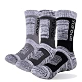 YUEDGE Men's Cushioned Crew Athletic Socks for Sports Outdoor Recreation Walking Climbing Camping Hiking