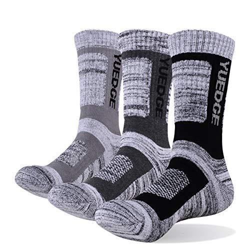 YUEDGE 3 Pares/Pack Calcetines Hombre Deporte Algodon Trabajo Calcetines para Hombres (XL)