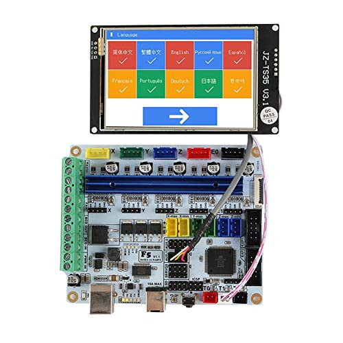 DYecHenG Carte mère d'imprimante 3D Imprimante 3D F5 V1.1 Basé sur ATMEGA 2560 Remplacer MKS Base & Ramps 1.4 Control Board + WiFi LCD 3,5 Pouces écran Tactile Meilleure Dissipation Thermique
