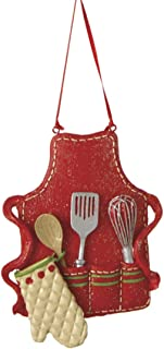 Midwest-CBK Cute Christmas Holiday Pastry Chef Bakers Apron Ornament , Red, Medium, 3.5
