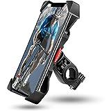 Aotlet Soporte Movil Moto, Soporte Movil Bicicleta con Rotación 360°, 3.5'-6.5' Smartphones Contiene iPhone 11/11 pro/X/XR/XS/X Max/8/7/6/5, Galax S20/S10/S9/S8,Huawei P30/P20