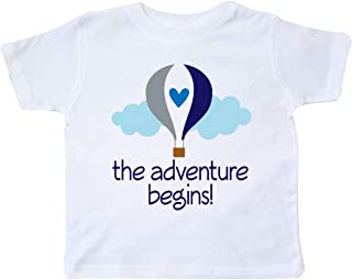 The Adventure Begins Hot Air Balloon Boys Toddler T-Shirt