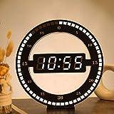 Wangxinquan - Orologio digitale semplice con spina circolare, 30,5 x 30,5 cm