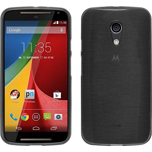 PhoneNatic Custodia Compatibile con Motorola Moto G Cover Rosso S-Style Moto G in Silicone + Pellicola Protettiva