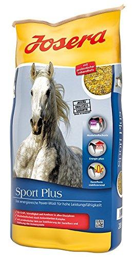 JOSERA Sport Plus, Premium Pferdefutter für Sportpferde, haferfrei, energiereiches Power Müsli für Pferde in schwerer Arbeit, 1er Pack (1 x 20 kg)