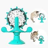 SunAurora Juguete para Gatos Interactivo,Juguete para Gatos Windmill,Juguete para Gatos Molino de Viento,Juguete para Gatos Automático Vertical Giratorio de 360 °