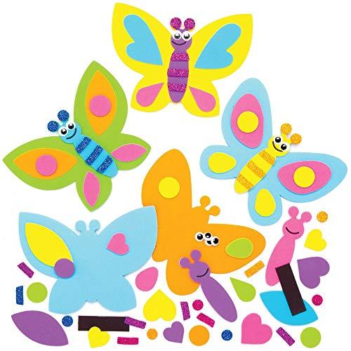 """Baker Ross Mix & Match-Deko-Magnete """"Schmetterling"""", für Kinder-Kunsthandwerksprojekte (8 Stück)"""