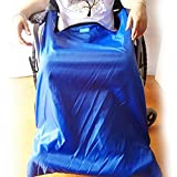 Gefütterter Schlupfsack für Rollstuhlfahrer, Plüsch Rollstuhlsack Rollstuhl Fußsack Warm Schlupfsack für ältere Menschen Patienten Behinderte Erwachsene,110X72cm -