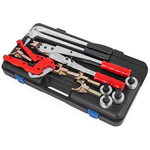 Mophorn Rohrinstallations-Werkzeugsatz Crimpzange Rohrinstallations-Werkzeugsatz PEX 16-32 für TECE TECEflex-Schiebemuffen 16-32mm (PEX 16-32)