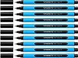 Schneider Slider Edge (Pointe extra large (XB)) Lot de 10 Stylos, Encre noir indélébile