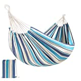 Best Choice Products 2-Person Indoor Outdoor Brazilian-Style Cotton Double Hammock Bed w/Portable Carrying Bag – Ocean