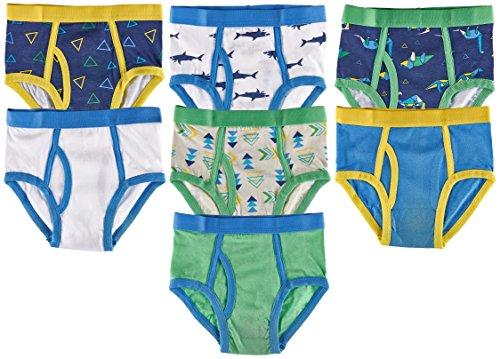 Trimfit - Calzoncillos Coloridos de algodón para niños, 7 Unidades, Geo Dino/Tiburones, Small