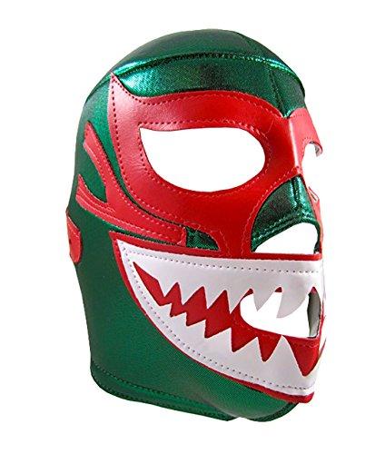 MIL MASCARAS SHARK Adult Lucha Libre Wrestling Mask (pro-fit) Costume Wear – Green
