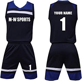 Custom Men&Kid's Basketball Jersey with Name and Number - Make Your Own Team Uniform
