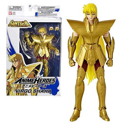 Bandai Heroes Seiya Zodiac # Figura de héroes Anime 17 cm # Guerrero de Oro Shaka de Virgo Saint # 36924