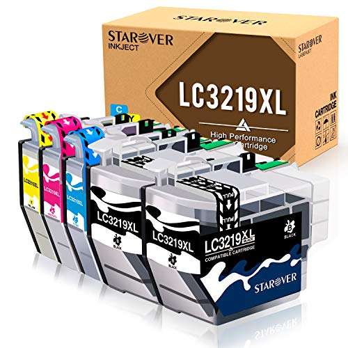 STAROVER kompatible Tintenpatronen ersetzen für Brother LC3219 XL LC3217 für Brother MFC-J5330DW MFC-J5335DW MFC-J5730DW MFC-J5930DW MFC-J6530DW MFC-J6930DW MFC-J6935DW (5er-Pack)
