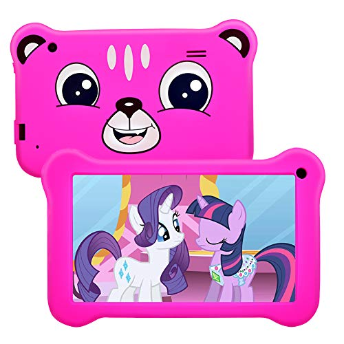 Tablet for Kids 7 inch Kids Tablet, 2GB RAM 16GB ROM, Android 9.0 Tablet, Parent Control, IPS HD Display, Kid-Proof, WiFi, Google Certified Playstore, Android Tablet (Rose)